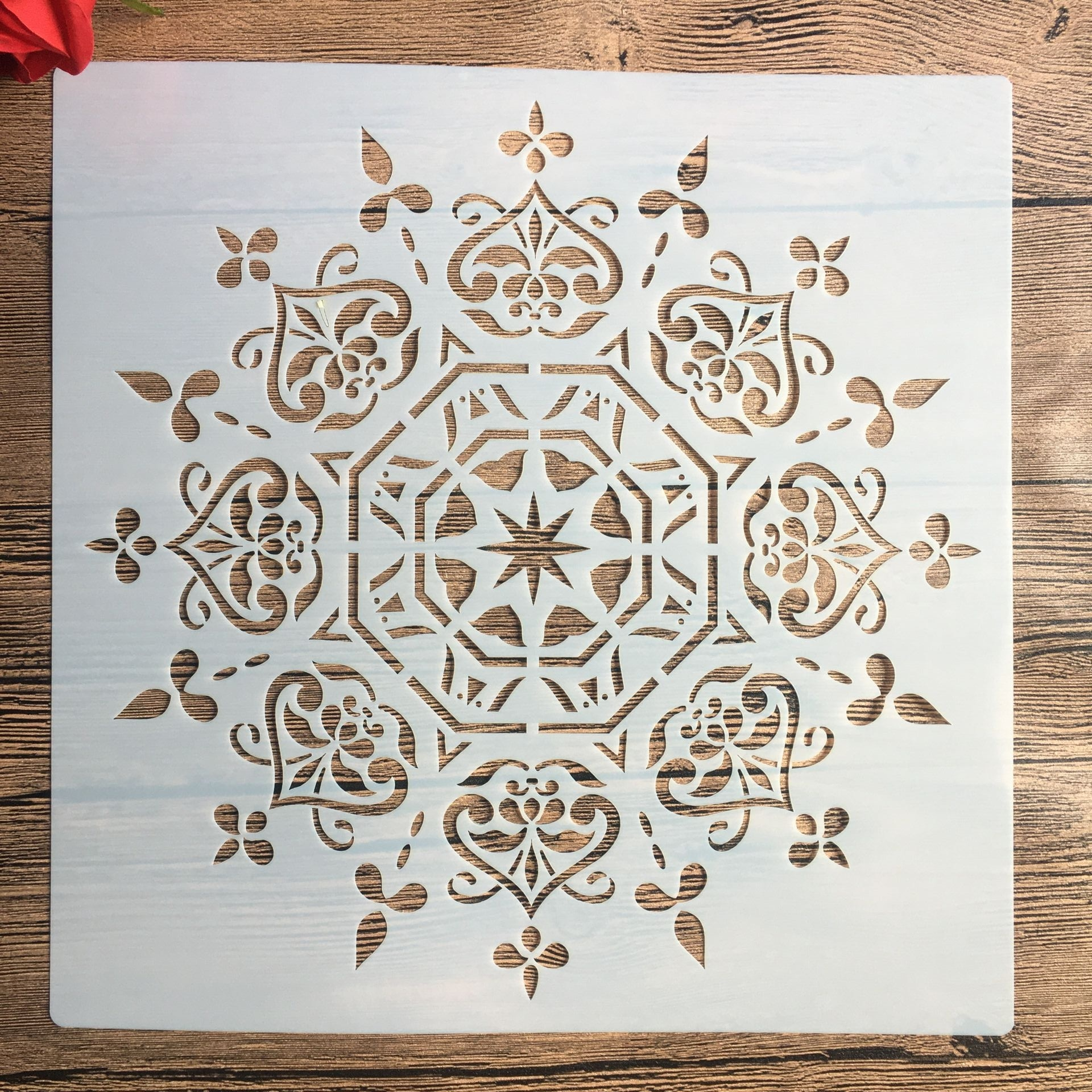 Acheter Grand Pochoir Mandala Pour Meuble Et Mur A Pas Cher