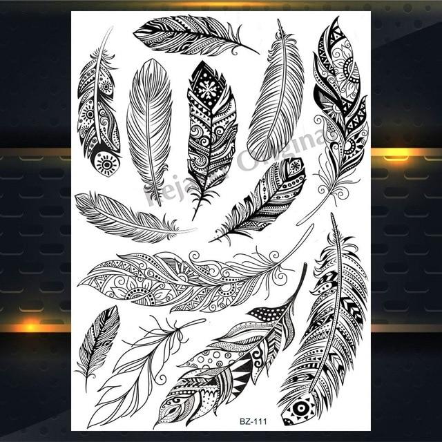 Acheter Tatouage Ephemere Attrape Reve Indien Avec Plumes Tattoo Temporaire Pas Cher