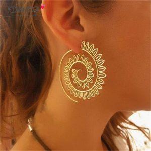 Boucle d'oreille spirituelle mandala